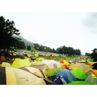 Photo taken at Fuji Rock Festival '13 Camp Site by Kimi L. on 7/28/2013