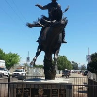 Photo taken at Clovis Rodeo Grounds by Oben R. on 4/27/2014