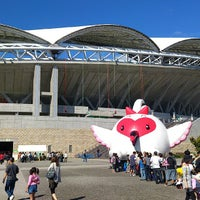 Photo taken at Denka Big Swan Stadium by yo_bolder on 10/8/2012