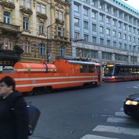 Photo taken at Bílá labuť (tram, bus) by Lenka K. on 3/9/2017