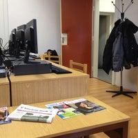 Photo taken at Katedra žurnalistiky UK by Michal K. on 3/12/2013