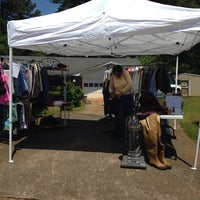 Photo taken at Kathryn's Garage Sale by Talesha C. on 5/3/2014