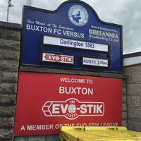 Photo taken at Silverlands (Buxton FC) by Mark R. on 8/15/2015