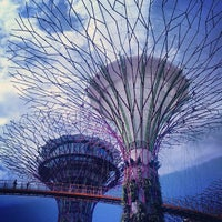 Photo taken at Gardens by the Bay by mouth on 6/10/2013