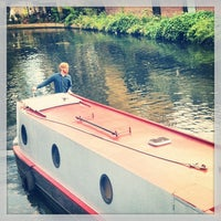Photo taken at Old Ford Lock (Regent's Canal) by Tiago P. on 10/6/2013