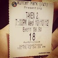 Photo taken at Regal Cinemas Winter Park Village 20 & RPX by Ashley H. on 10/10/2012
