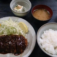 Photo taken at とんかつ 奥三河 by ブルーツリー on 11/19/2013