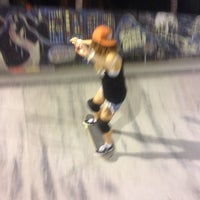 Photo taken at Bowl Globe Skate Park by Julia on 10/12/2014