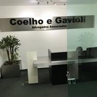 Photo taken at Coelho e Gavioli Adv. Associados by Rodrigo T. on 3/16/2017