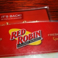 Photo taken at Red Robin Gourmet Burgers by Josh H. on 9/29/2012