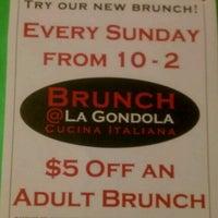 Photo taken at La Gondola Cucina Italiana by Andrew M. on 12/16/2012