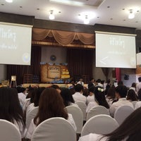 Photo taken at หอประชุมมหาวิทยาลัยหอการค้าไทย by Panikarn O. on 9/15/2016
