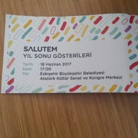 6/18/2017 tarihinde Başak Ç.ziyaretçi tarafından Eskişehir Atatürk Kültür Sanat ve Kongre Merkezi'de çekilen fotoğraf