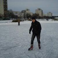 Photo taken at Каток возле национальной библиотеки by Andrei S. on 2/24/2013