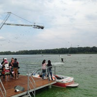 Photo taken at Sentosa Cable Park by Darina S. on 9/14/2013