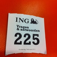 Photo taken at ING by Andrejs G. on 2/7/2013