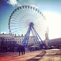 Photo taken at Place Bellecour by Lidia S. on 12/7/2012