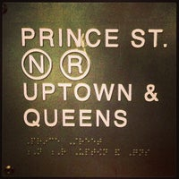 Photo taken at MTA Subway - Prince St (R/W) by Antoine D. on 12/27/2012