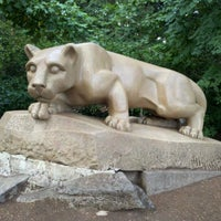 Photo taken at Nittany Lion Shrine by Charlotte L. on 9/14/2012