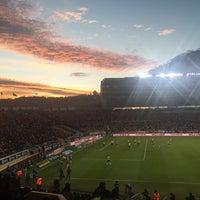 Photo taken at Estadio Morelos VIP by Karin Z. on 1/31/2016