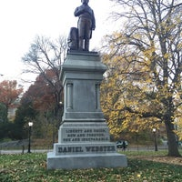 Photo taken at Statue of Daniel Webster by geheimtip ʞ. on 11/20/2015