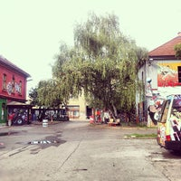 Photo taken at AKC Metelkova mesto by geheimtip ʞ. on 9/30/2012