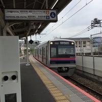 Photo taken at Senjuōhashi Station (KS05) by Kudo A. on 4/22/2017