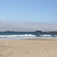 Photo taken at Gazos Creek Beach by Olga S. on 8/13/2012