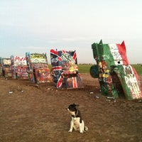 Photo taken at Cadillac Ranch by Mattias E. on 10/5/2012