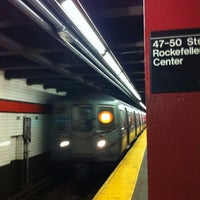 Photo taken at MTA Subway - 47th-50th St/Rockefeller Center (B/D/F/M) by Randall G. on 6/18/2013