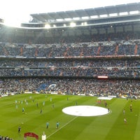 Photo taken at Santiago Bernabéu Stadium by Javier L. on 5/17/2013