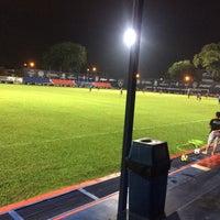 Photo taken at Mini Stadium by Ungku Nazim A. on 4/18/2017