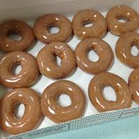 Photo taken at Krispy Kreme Doughnuts by April C. on 2/13/2013
