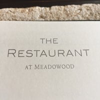 Photo taken at The Restaurant at Meadowood by Ruthie O. on 4/1/2018