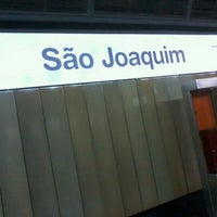 Photo taken at Estação São Joaquim (Metrô) by Thais M. on 9/23/2012