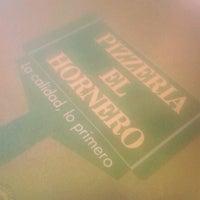 Photo taken at Pizzeria el Hornero by Esteban R. on 4/26/2013