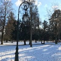 Photo taken at Jardin de l'Europe — Place de l'Hôtel de ville by Carlos V. on 1/16/2017
