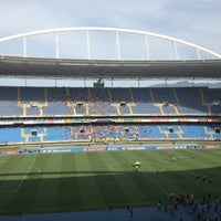 Photo taken at Olympic Stadium (Engenhão) by Carlos V. on 2/9/2013
