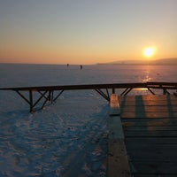 Photo taken at Balatonfűzfői Strand by Balázs B. on 1/11/2017