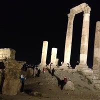Photo taken at Amman Citadel by Maha A. on 9/21/2012