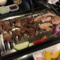 Photo taken at Oreno Yakiniku Japanese Bar-B-Cue by Hung T. on 4/23/2017