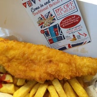 Photo taken at Great British Fish & Chips by Michael C. on 2/5/2014