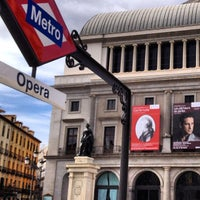 Photo taken at Plaza de Isabel II by Mejroxy on 2/9/2013
