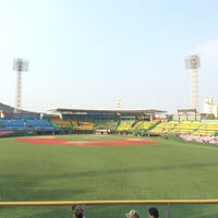 Photo taken at Cheongju Baseball Stadium by sugul80 on 8/16/2016