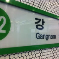 Photo taken at Gangnam Stn. by Pancho K. on 3/12/2013