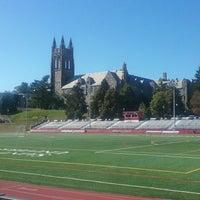 Photo taken at Saint Joseph's UniversityTrack by David W. on 10/23/2017