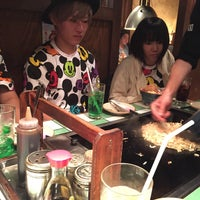 Photo taken at もんじゃお好み焼呑具里 by hoda @. on 8/31/2015