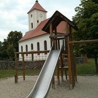 Photo taken at Spielplatz Ruhlsdorf by Josh D. on 8/17/2013