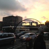 Photo taken at Old Street Roundabout by Namer M. on 11/10/2012