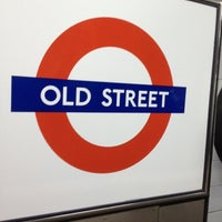 Photo taken at Old Street London Underground Station by Namer M. on 11/30/2012